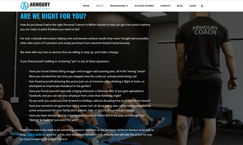 About Armoury Coaching Studio