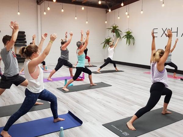 Globe athletic yoga class